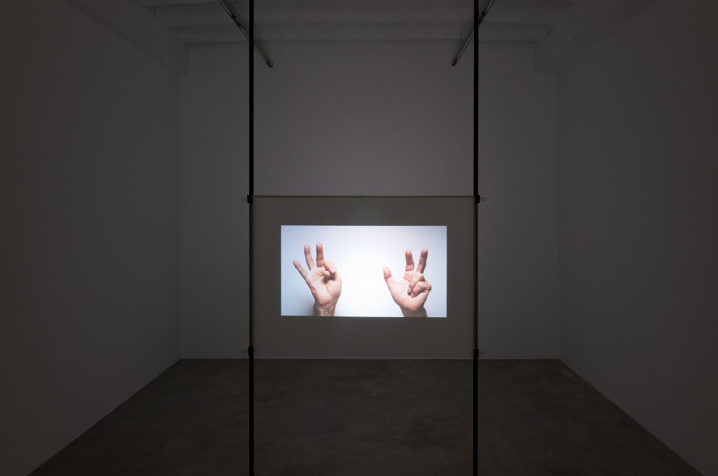 Beschriebene Kombinationen (2011) was available for between $1 and 2 million at Galerie Konrad Fischer. Courtesy Galerie Konrad Fischer.
