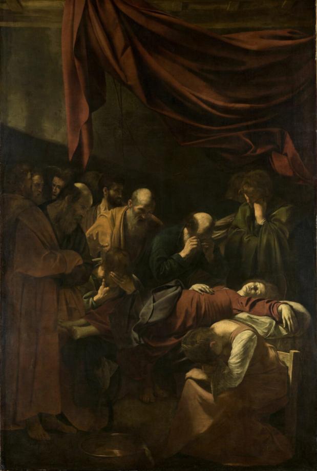 Caravaggio's <i>La Mort de la Vierge</i> (1604–16) on the Louvre's new online collections database. Courtesy of the Courtesy of the Musée du Louvre.