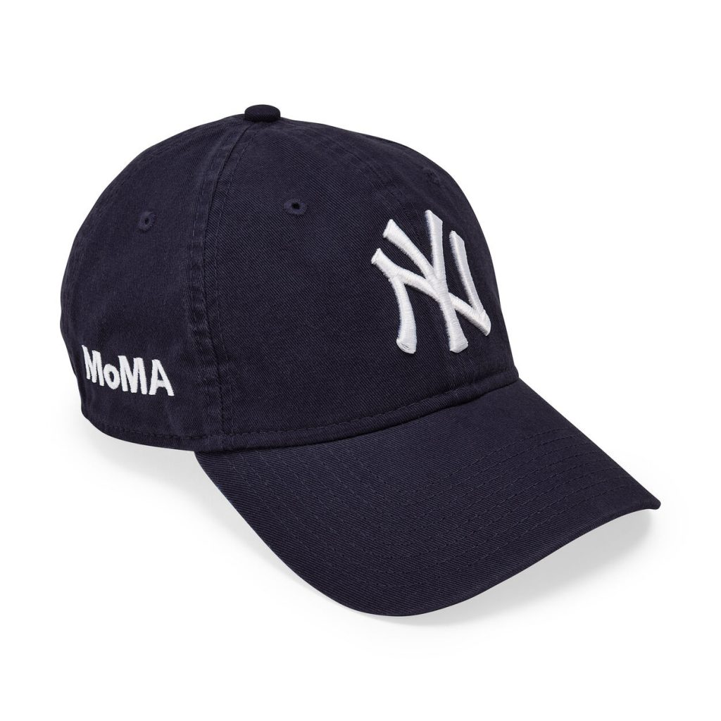 The MoMA Yankees cap, from New Era. Boo! Photo courtesy of the Museum of Modern Art.