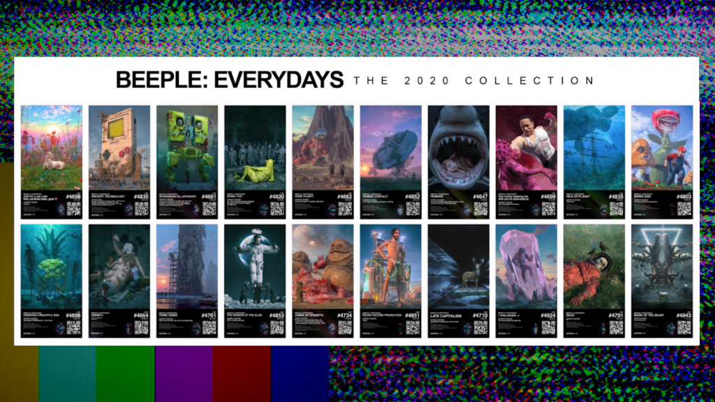 "Beeple's ""Beeple Everydays: The 2020 Collection."" Courtesy of Metapurse."