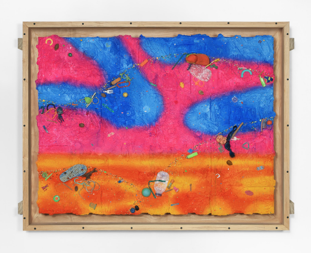 Ashley Bickerton, Pink Cloud (2020). Courtesy the artist and Lehmann Maupin, New York, Hong Kong, Seoul, and London.