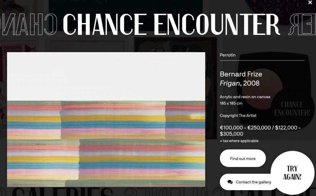 Screenshot of FIAC's 'Chance Encounter' feature in action.