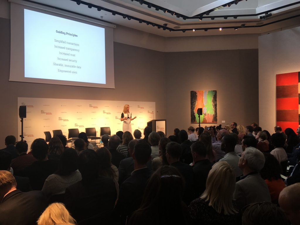 An image of the 2018 Christie's Art and Tech Summit. Courtesy Elliot Safra.