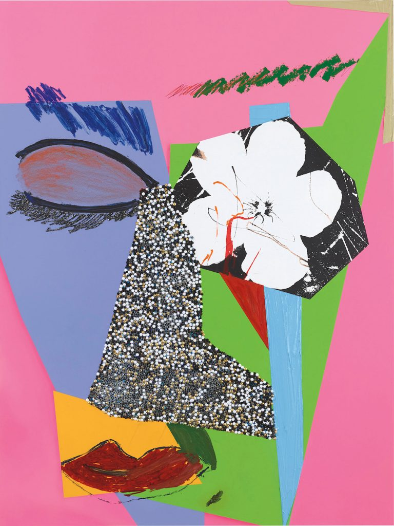 Mickalene Thomas, Untitled #10 (2014). Image courtesy Phillips.