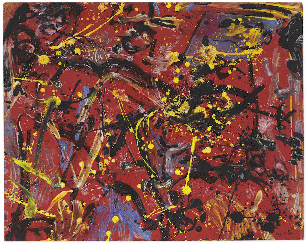 Jackson Pollock, Red Composition (1946). Image courtesy Christie's.