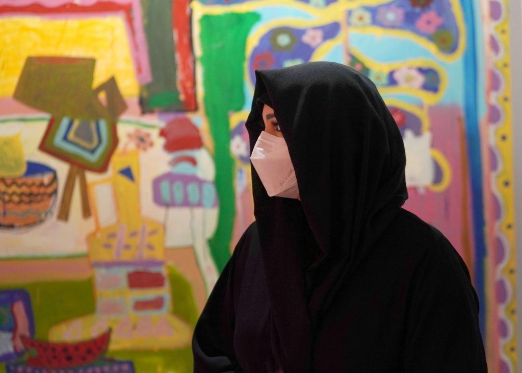 Ángeles Agrela at Yusto-Giner Gallery. Courtesy of Art Dubai.