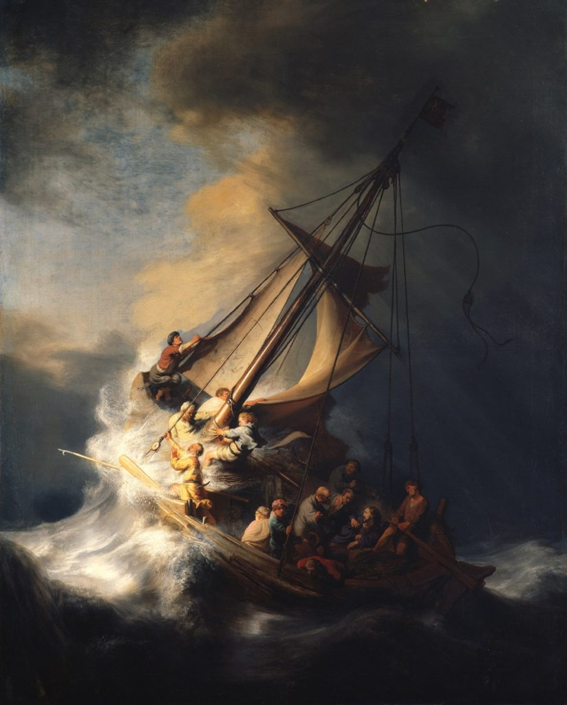 Rembrandt, Storm on the Sea of Galilee (1633). Courtesy Isabella Stewart Gardner Museum.