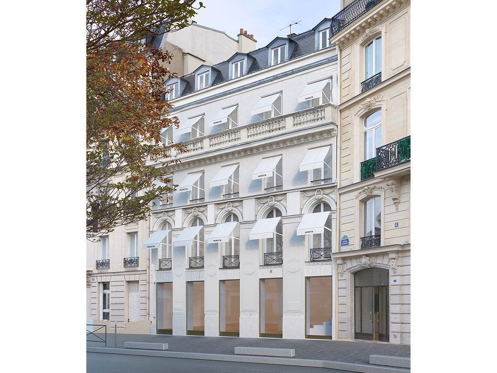 The new Perrotin gallery in a five-storey townhouse at 8 Avenue Matignon in Paris.