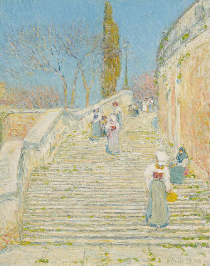 Childe Hassam, Piazza di Spagna (1857). Courtesy of Sotheby's.