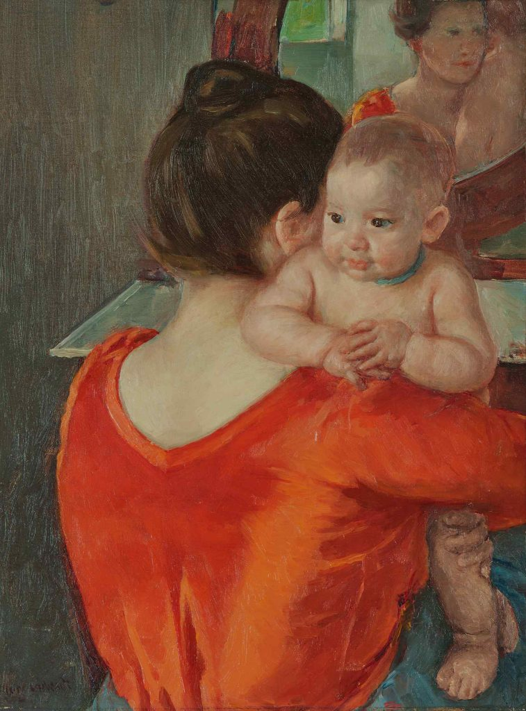 Mary Cassatt, Baby Charles Looking Over His Mother's Shoulder No. 3 (ca. 1901). Courtesy of Sotheby's.
