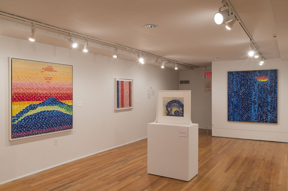 Installation view, Alma Thomas at The Studio Museum in Harlem, 2016. Photo: Adam Reich.