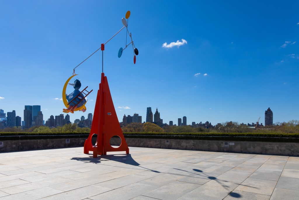 Alex Da Corte, As Long as the Sun Lasts for the 2021 Roof Garden Commission at the Metropolitan Museum of Art, installation view. Photo by Hyla Skopitz, courtesy of the Metropolitan Museum of Art.