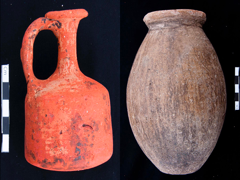 Artifacts from the archeological site of 110 tombs at the Nile Delta. Photo courtesy of the Egyptian Ministry of Tourism and Antiquities.