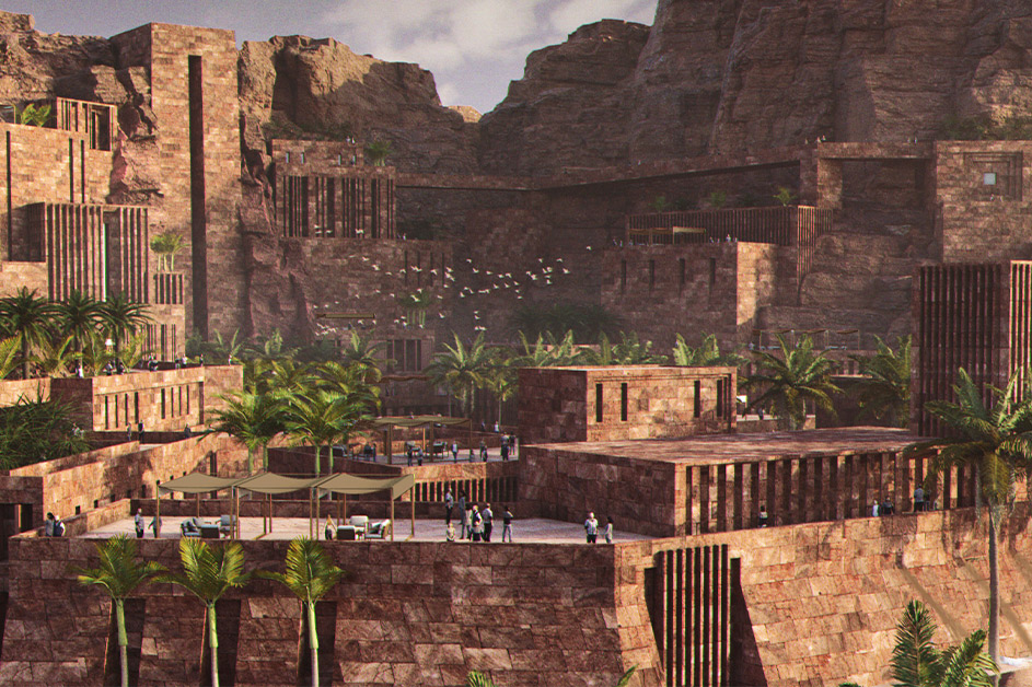 Rendering of Kingdoms Institute, a global hub for archaeological and conservation research being built in AlUla. Image ©Royal Commission for AlUla.