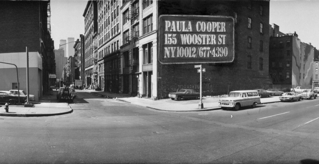The Paula Cooper Gallery at 155 Wooster Street, in SoHo, in 1973. Photo by Mates and Katz, courtesy of Paula Cooper Gallery.