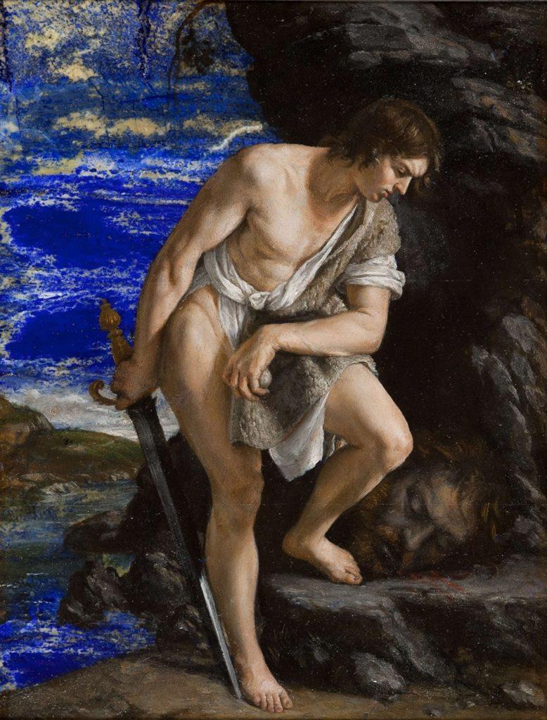 Orazio Gentileschi, David Contemplating the Head of Goliath. Courtesy of the Weiss Gallery.