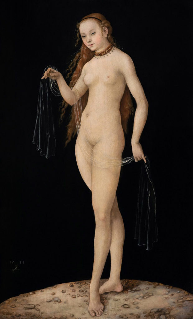 Lucas Cranach the Elder, Venus (1531). Courtesy of Wikimedia Commons.