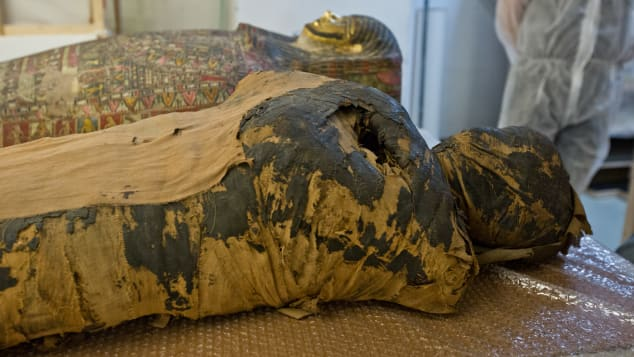 Experts at the Warsaw Mummy Project have discovered the world's first pregnant mummy. Photo courtesy of the Warsaw Mummy Project.
