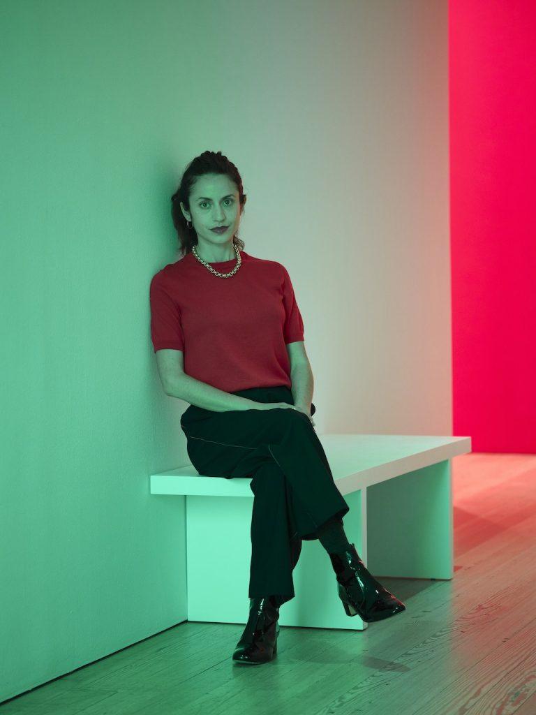 Madeline Hollander at the Whitney Museum of American Art, 2021. Courtesy of Bortolami Gallery. Photo: Nicholas Calcott.