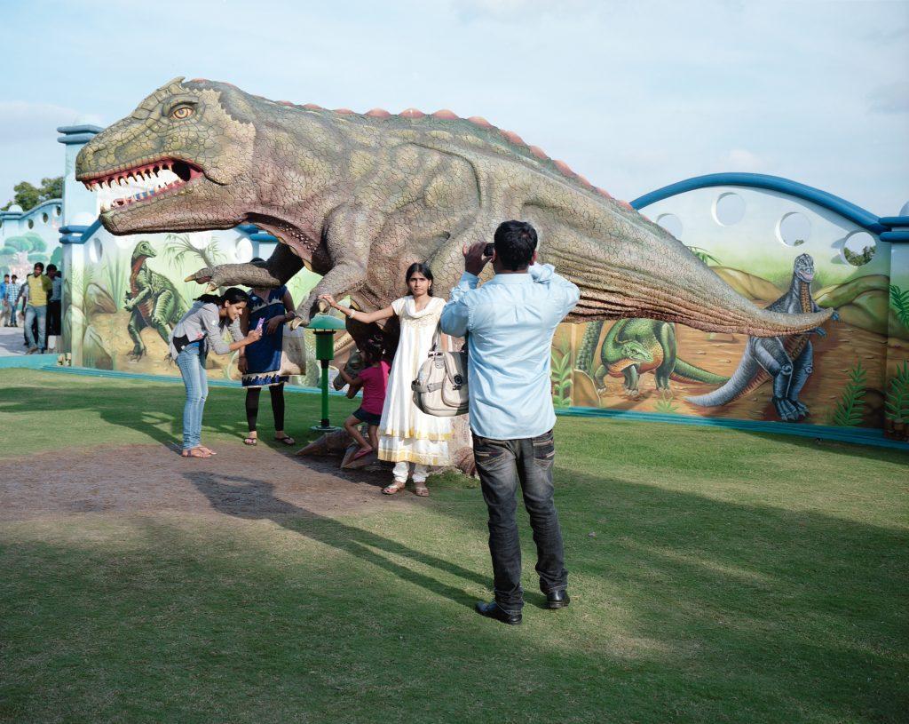 Kalpesh Lathigra, <i>Dinosaurs and Cameras</i>. Courtesy of Art for India.