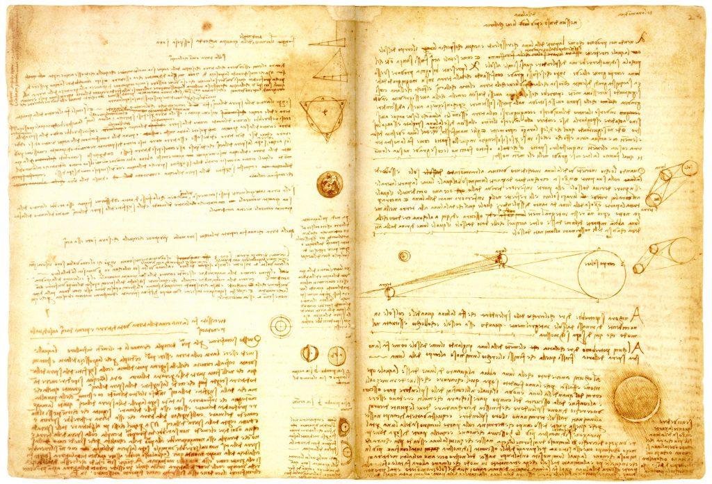 Leonardo da Vinci's Codex Leicester from the 16th century.