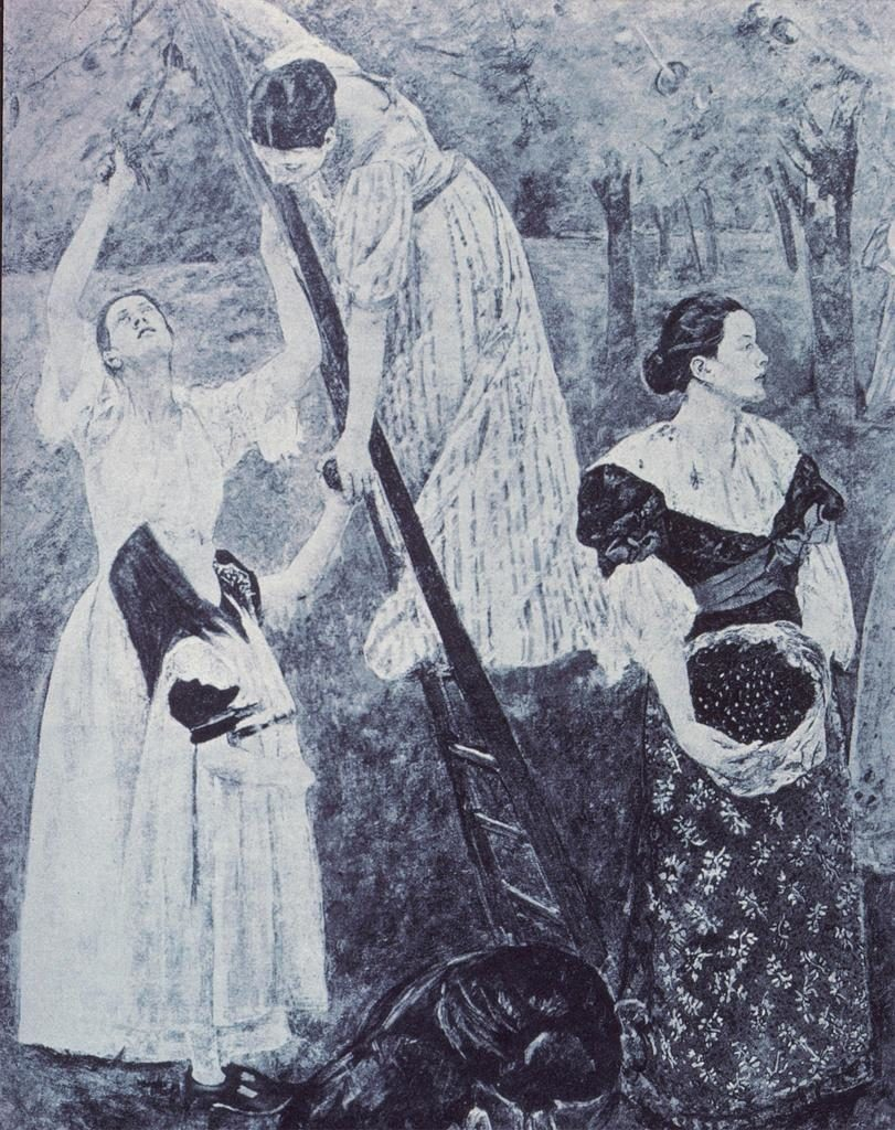 A detail of Mary Cassatt's now destroyed Modern Woman mural (c.1893). Courtesy of Slide Gallery University of California, San Diego.