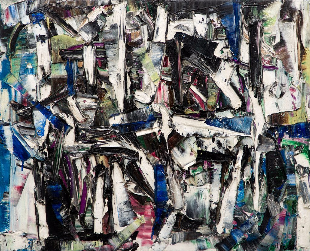 Jean Paul Riopelle, Untitled (1958). Courtesy of BYDealers.