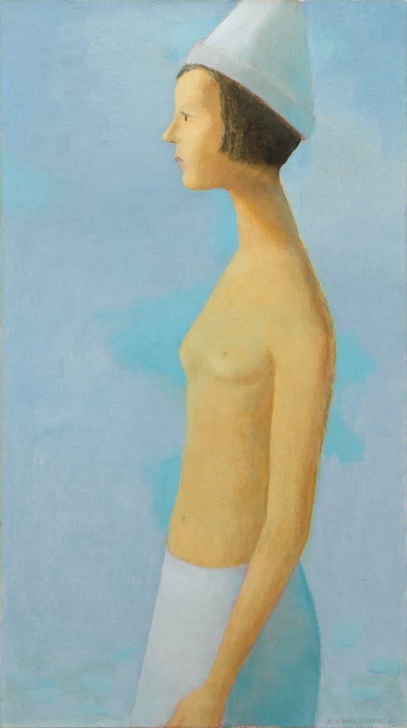 Jean Paul Lemieux, Nu Sur Fond Bleu (1963). Courtesy of BYDealers.