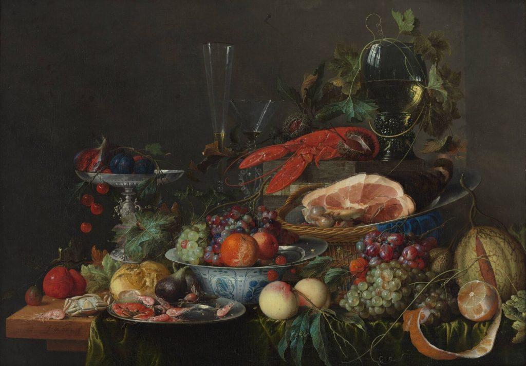 Still Life with Ham, Lobster and Fruit</i> (ca. 1653). Courtesy of Museum Boijmans Van Beuningen.