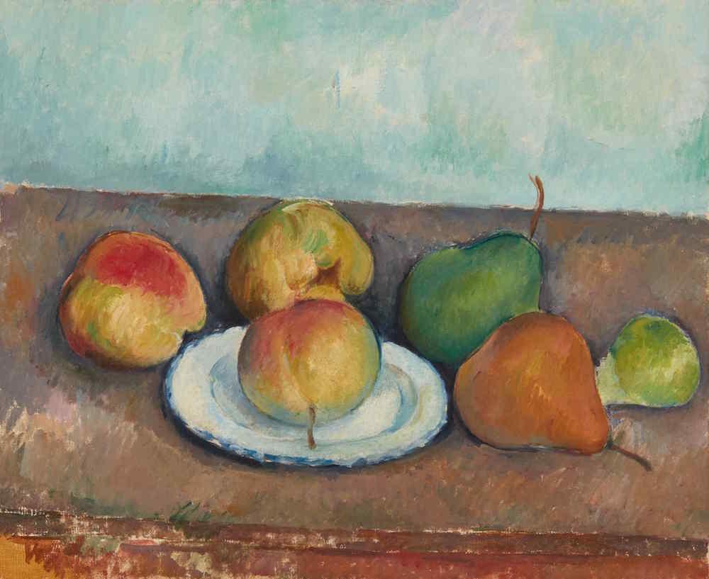 Paul Cezanne, Nature morte pommes et poires (Circa 1888-90). Image courtesy Sotheby's.