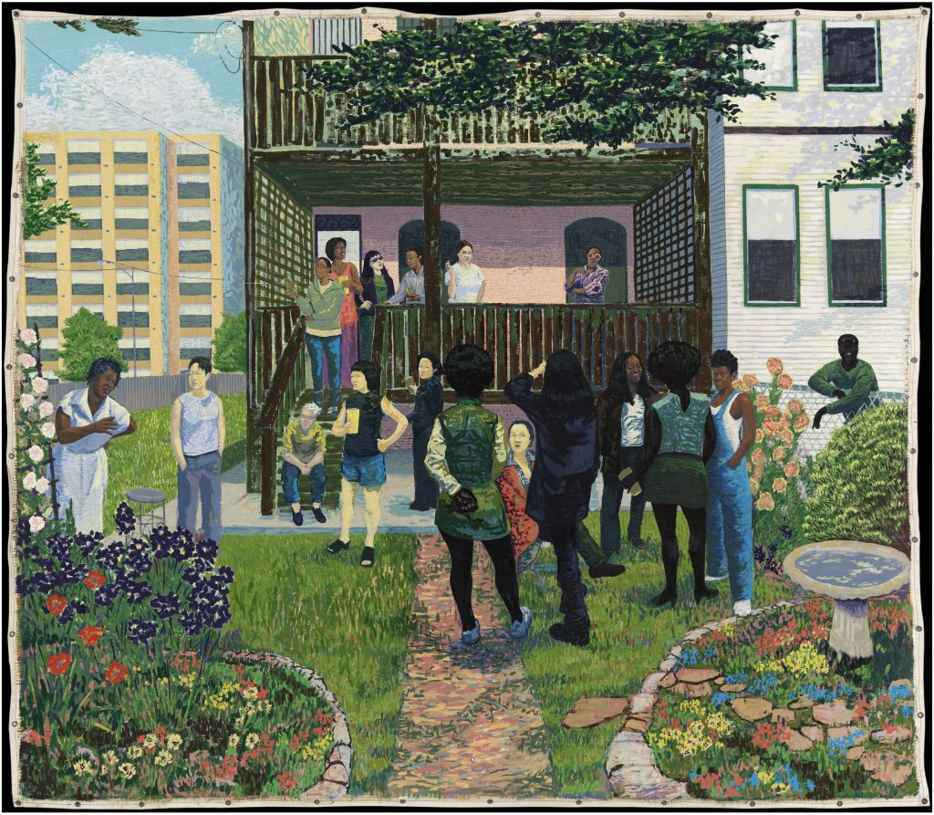 Kerry James Marshall, <i> Garden Party</i> (2003). © Kerry James Marshall. Courtesy of the artist and Jack Shainman Gallery, New York.