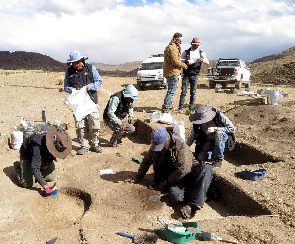 Excavations at Wilamaya Patjxa. Courtesy Randall Haas.
