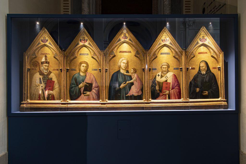 Giotto di Bondone's Polittico di Badia (1295-1297). Courtesy Uffizi Galleries.