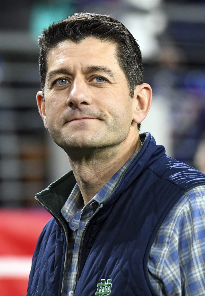 Paul Ryan attends the game on January 11, 2020, at M&T Bank Stadium in Baltimore, MD. (Photo by Mark Goldman/Icon Sportswire via Getty Images)