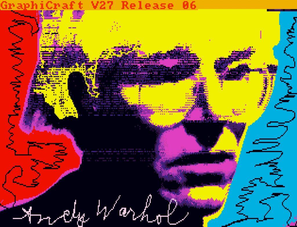 Andy Warhol, <em>Untitled (Self-Portrait)</em> (ca. 1985k, minted as an NFT in 2021). ©The Andy Warhol Foundation.