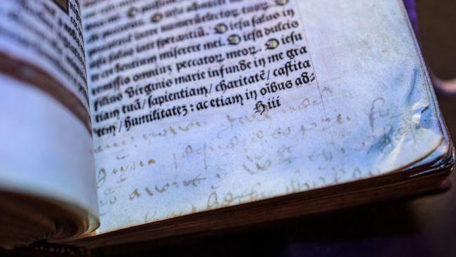 Anne Boleyn's Book of Hours prayer book. Photo courtesy of Hever Castle & Garden.