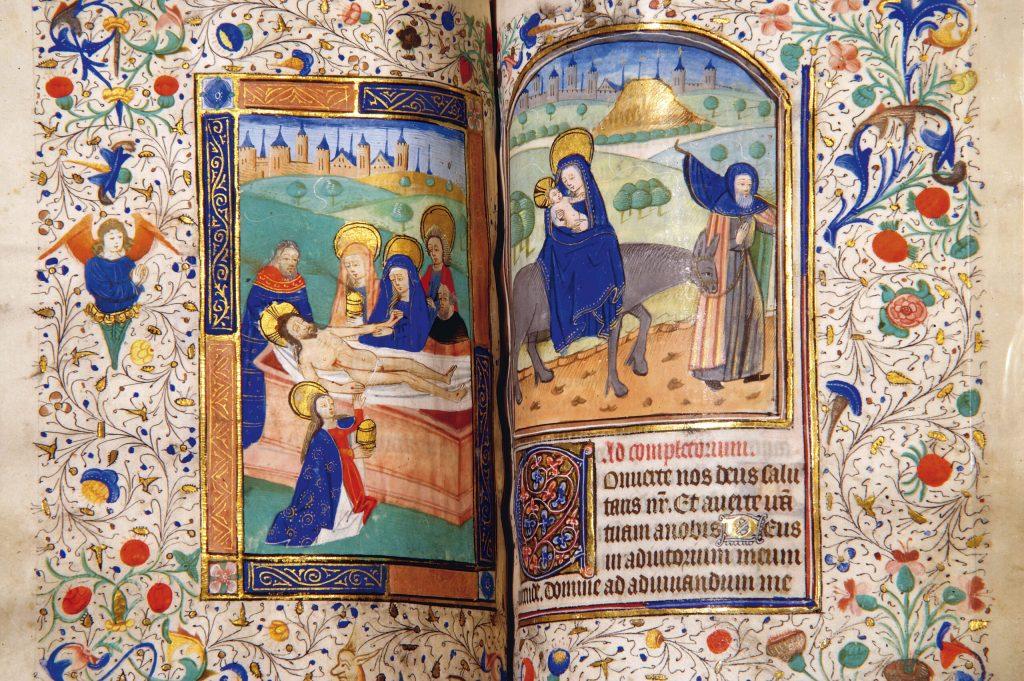 An illumination from Anne Boleyn's Book of Hours prayer book. Photo courtesy of Hever Castle & Garden.