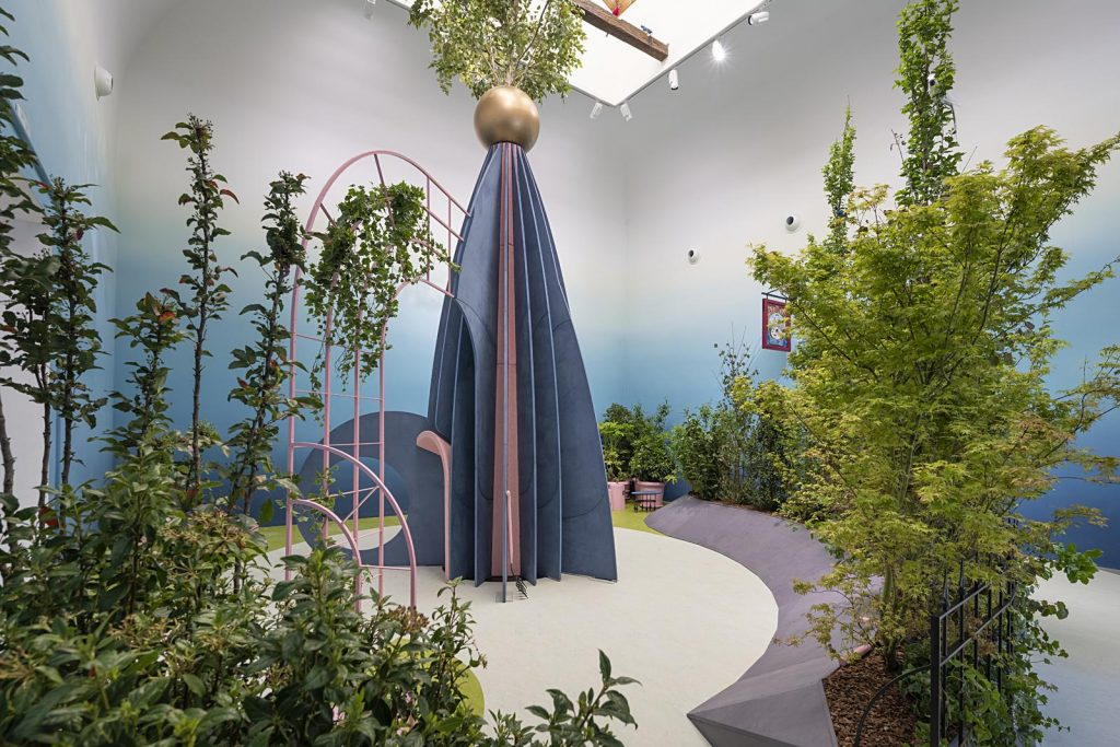 """The British Pavilion, """"The Garden of Privatised Delights,"""" at the Venice Architecture Biennale. Photo by Cristiano Corte, courtesy of British Council."""