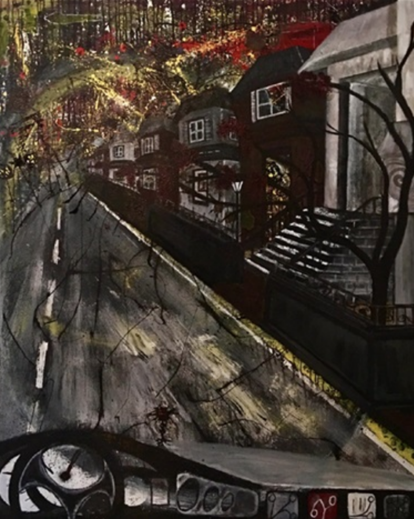 JuanCarlos rLora, Autumn Ghost Town. Courtesy of ArtToSaveLives Contemporary.