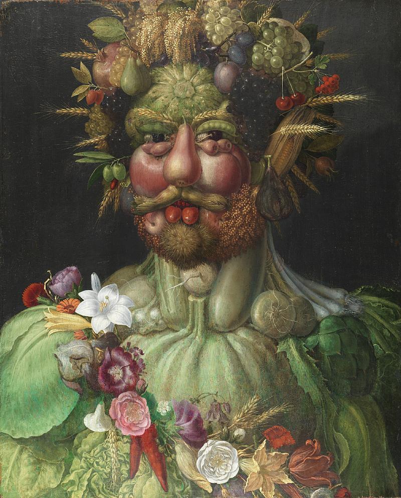 Arcimboldo's Vertumnus, (c. 1590–1591). Courtesy of Wikiart.