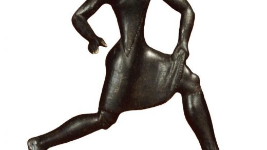 A bronze Archaic Greek figure of a running girl. © The Trustees of the British Museum.