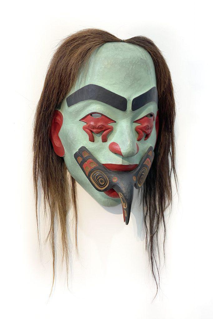 Beau Dick, Volcano Woman (ca. 2005). Courtesy of Fazakas Gallery.