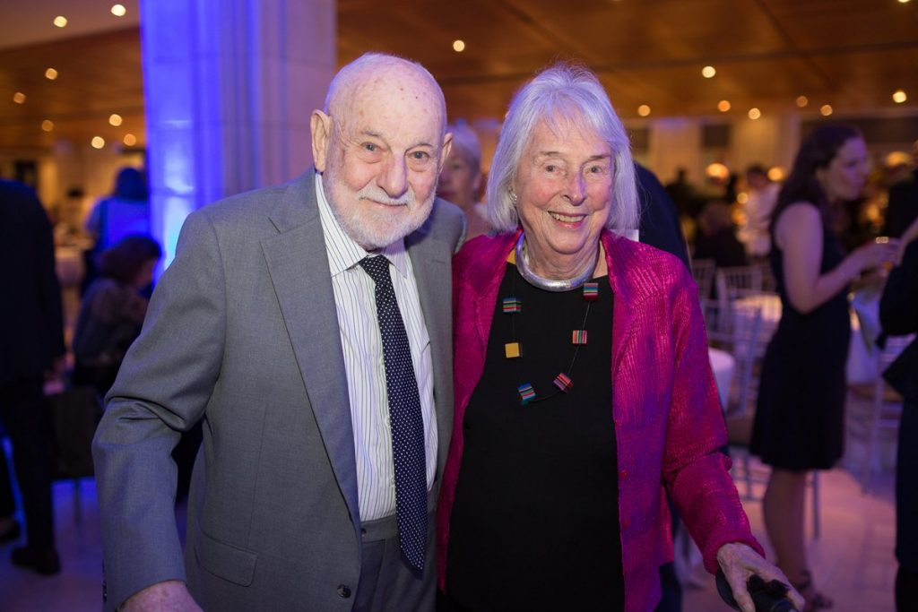 Eric Carle and his longtime editor, Ann Beneduce, at the 2016 Carle Honors in New York. Photo by Johnny Wolf photography, ©Eric Carle Museum of Picture Book Art.