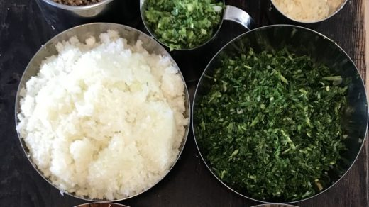 The ingredients for <em>mandu</em>, a traditional Korean dumpling that Jean Shin makes with family every New Year. Photo courtesy of Jean Shin.