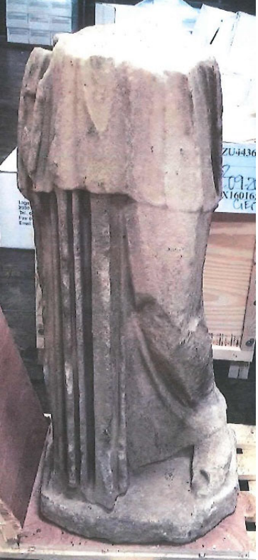 A photograph of the antique Roman statue taken by an HSI SA on or about May 11, 2016. Photo courtesy PACER.