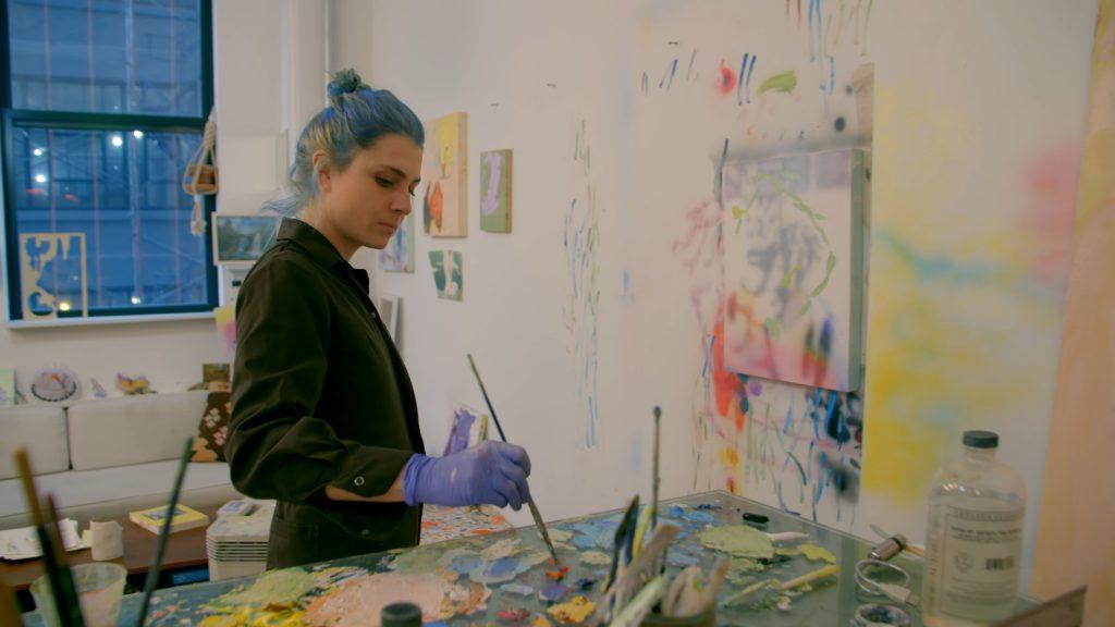 "Production still from the Art21 ""New York Close Up"" film, ""Rachel Rossin's Digital Homes."" © Art21, Inc. 2021."