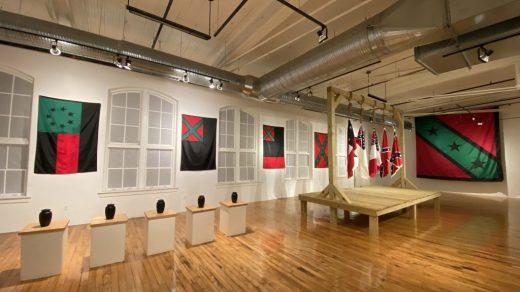"Exhibition view, John Sims's ""AfroDixia"" at 701 Center for Contemporary Art. Photo: courtesy of the artist."