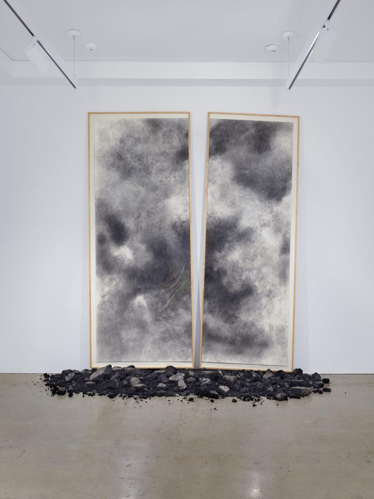 David Hammons, <i>Untitled (Basketball Drawing)</i> (2006-7). ©️ David Hammons / Courtesy Nahmad Contemporary.