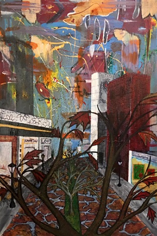 JuanCarlos rLora, Old City Love (Climbing a Tree). Courtesy of ArtToSaveLives Contemporary.
