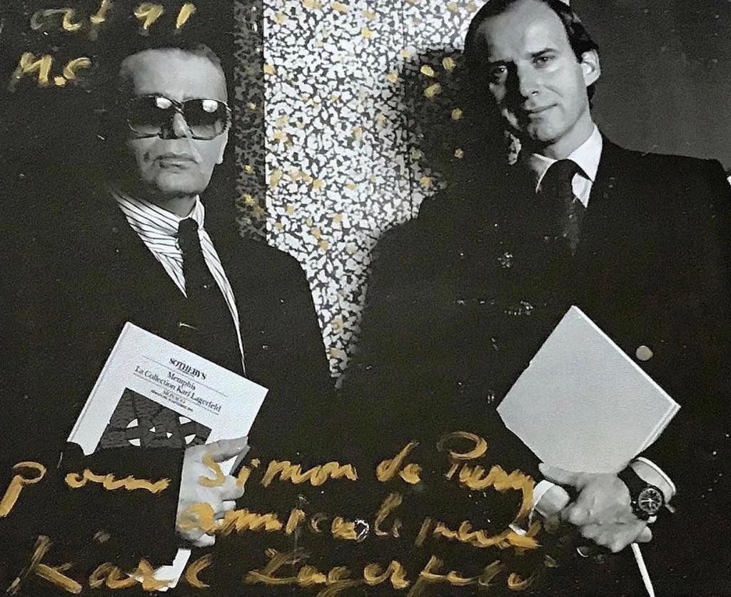 Karl Lagerfeld and Simon de Pury. Courtesy Simon de Pury.